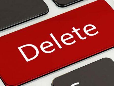 حذف یا مدیریت فضای مجازی